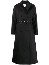 Mackintosh Montrose Black Bonded Wool And Mohair Long Trench Coat 60
