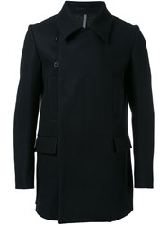 Kazuyuki Kumagai Double Breasted Coat Black