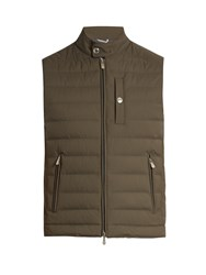 Brunello Cucinelli Zip Through Nylon Gilet Green