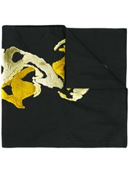 Ann Demeulemeester Embroidered Scarf Black