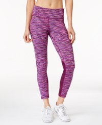 Ideology Space Dyed 7 8 Leggings Created For Macy's Pretty Plum