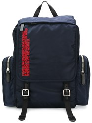 Calvin Klein 205W39nyc Logo Cargo Backpack Blue
