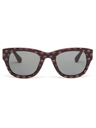 Jeremy Scott 'Kiss' Sunglasses Red
