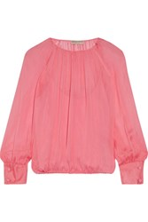 Emilio Pucci Gathered Silk Blouse Pink