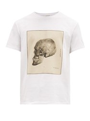 Alexander Mcqueen Anatomical Skull Print Cotton T Shirt White Multi
