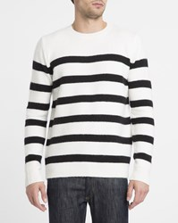 Eleven Paris Ecru Edriss Sailor Stripe Sweater White