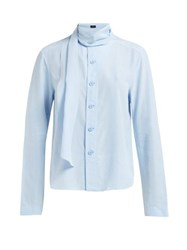 Joseph Amine Silk Toile Blouse Light Blue