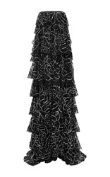 Sachin Babi And Suraj Embellished Lace Gown Black