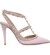 Valentino Rockstud 100 Leather Courts Pale Pink