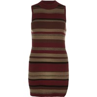 River Island Womens Red Stripe Turtle Neck Top