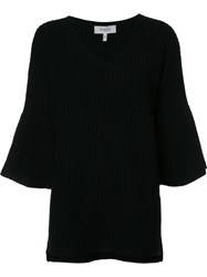 Derek Lam 10 Crosby Flared Sleeves Ribbed Jumper Black