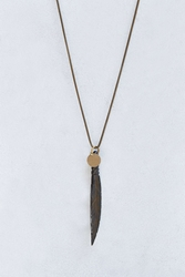 Profound Aesthetic Feather Necklace Bronze