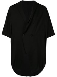 Julius Oversized Double Breasted Shirt Black