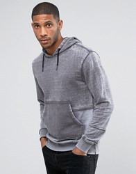 Another Influence Burn Out Pull Over Panelled Hoodie Grey
