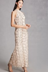 Forever 21 Sequin Maxi Dress Gold