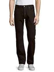 Tom Ford Straight Fit Cotton Five Pocket Pants Black