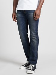 Edwin Ed 55 Relaxed Tapered Jeans Deep Blue Denim Grime Dirt Wash