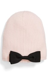 Kate Spade New York Grosgrain Bow Knit Beanie Pink Rose Dew