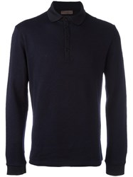 Etro Longsleeved Polo Shirt Blue