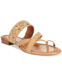 Styleandco. Style And Co. Behati Embellished Flat Sandals Only At Macy's Women's Shoes Natural
