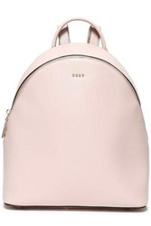 Dkny Woman Textured Leather Backpack Blush