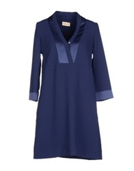 Momoni Momoni Short Dresses Dark Blue