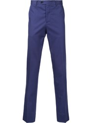Gieves And Hawkes Slim Fit Trousers Men Cotton 30 Blue