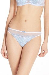 Women's B.Tempt'd By Wacoal 'B.Sultry' Lace Front Thong Bridal White