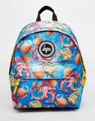 Hype X Spongebob Backpack With Burger And Patrick Print Multi