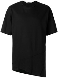 Chalayan Triangle Fold Detail T Shirt Black