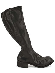 Guidi Knee Length Boots Black
