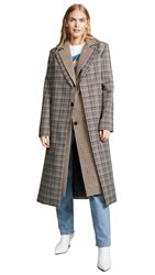 Monse Double Collar Coat Plaid