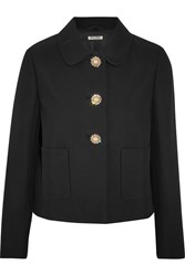 Miu Miu Embellished Cady Jacket Black