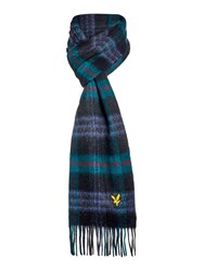 Lyle And Scott Woven Tartan Scarf Green