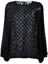 Amen Polka Dot Blouse Black