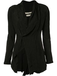 Uma Wang Draped Collar Blazer Black