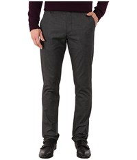 Ted Baker Lommy Classic Fit Brushed Cotton Trousers Charcoal Men's Casual Pants Gray