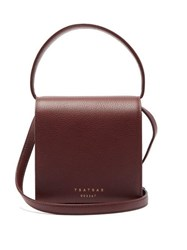 Tsatsas Malva 2 Grained Leather Cross Body Bag Burgundy