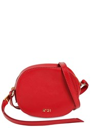 N 21 Micro Round Leather Bag Red