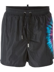 Dsquared2 Beachwear Tie Dye Detail Swim Shorts Black