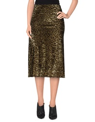 Poems 3 4 Length Skirts Military Green