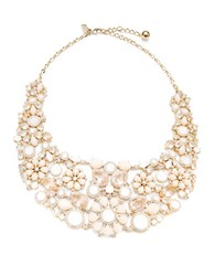 Kate Spade At First Blush Floral Bib Necklace White