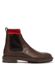 Lanvin Leather Chelsea Boots Brown Multi
