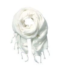 Love Quotes Linen Tassel Scarf Souffle Scarves White