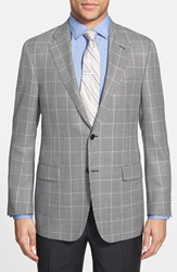 Hickey Freeman 'Beacon' Classic Fit Houndstooth Wool Blend Sport Coat Black White