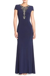 Women's Js Boutique Embellished Jersey Gown