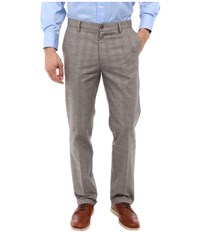 Dockers Signature Khaki D1 Slim Fit Flat Front Chatman B Plaid Men's Dress Pants Gray