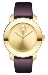 Movado Women's Bold Leather Strap Watch 36Mm