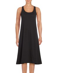 Lord And Taylor Sleeveless A Line Dress Black