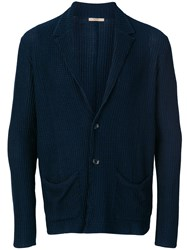 Nuur V Neck Cardigan Blue